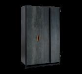 Cilek Dark Metal Kleiderschrank mit 3 Türen