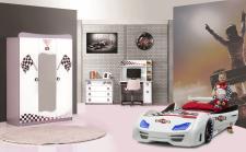Autobett Komplettzimmer GT999 4-teilig weiß