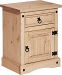 Unit Nachttisch mit 1 Tür und 1 Schublade Honig