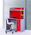 Turbo Schreibtisch 100x62 Rot inklusive Aufsatz