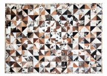 Teppich Braun Minor aus gefärbtem Kuhfell mit Weiß
