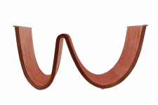 Tischgestell Cibus Wellenförmig