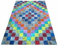 Teppich Bunt Minor aus gefärbtem Kuhfell