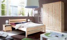 Schlafzimmer Bett Massiv Belinda Landhaus Stil