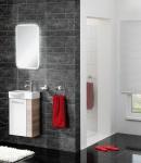 Badezimmermöbel in zwei Farben Verena 3-teilig