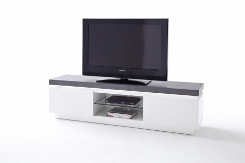 Ocean TV-Unterschrank MDF matt lackiert mit Beton