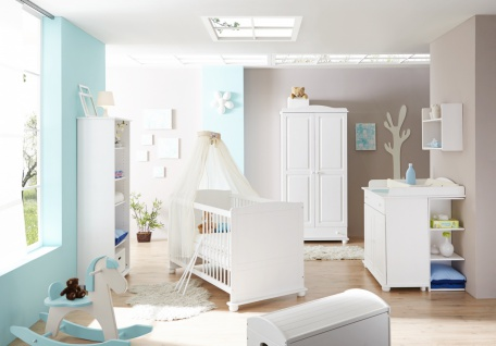 Babyzimmer Kiefer massiv Gina 5-teilig in zwei Farben