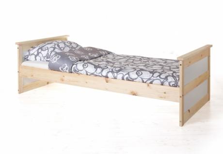 Schlafzimmer Bett Landhaus Stil Merinda Kiefer massiv - Vorschau 3