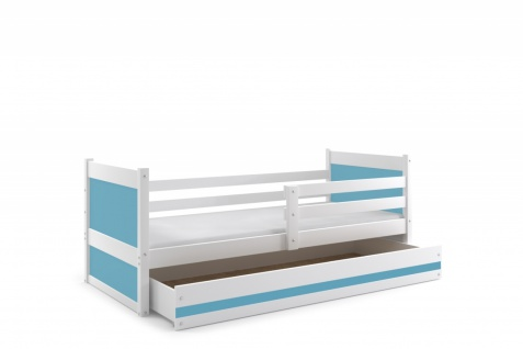 Kinderbett Joko Weiß mit Bettkasten in verschiedenen Farben