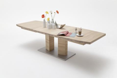 Cuno Esstisch mit 2 Säulen in verschiedenen Formen