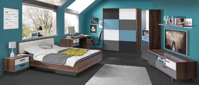 Kinderzimmer komplett Raban 7-teilig modern