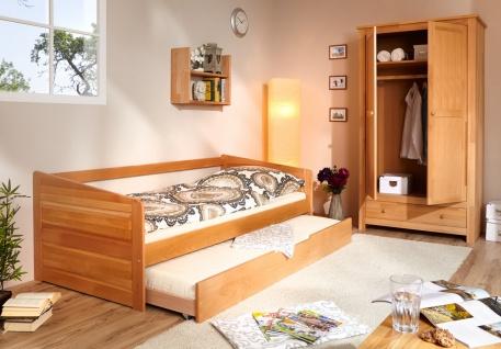 Sofabett mit Gästebett Noelia Buche massiv