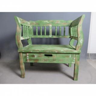 Sitzbank 02 mit 2 Schubladen verschiedene Farben 80 x 80 x 44 cm - Vorschau 1