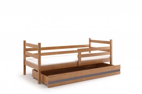 Kinderbett Dario in Erle mit Bettkasten inkl. Lattenrost und Matratze