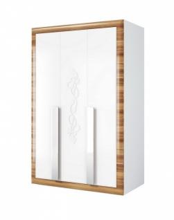 Kleiderschrank weiß hochglanz 2 türig  Kleiderschrank Weiß Hochglanz günstig online kaufen - Yatego