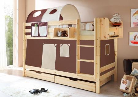 Vorhang Etagenbett Kinder : Kinderzimmer vorhang lila kinderbett hochbett bett tunnel