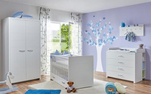 Babyzimmer möbel weiß  Babyzimmer Set 5-teilig Carina in edlem Weiß - Kaufen bei Möbel-Lux