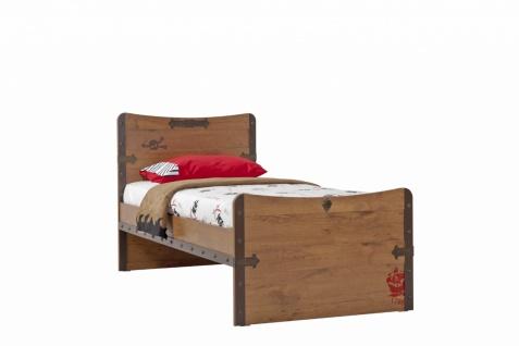 Cilek Black Pirate Kinderbett in Schiffsplankenoptik