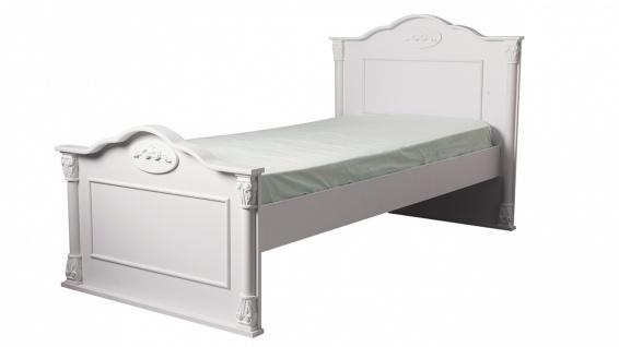 Einzelbett klassisch Clarissa in Weiß