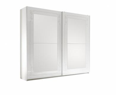 Schwebetürenschrank Casa mit Spiegel Weiß 2 türig
