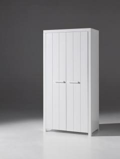 Richard Kleiderschrank mit zwei oder drei Türen Weiß