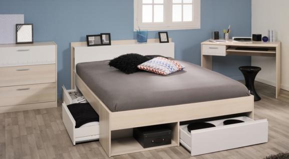 Schlafzimmer Set Janneck 3-teilig in Akazie / Weiß