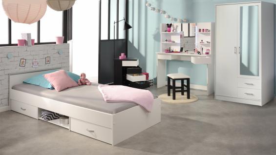 Mädchenzimmer Set Price 5-teilig in Weiß-Schwarz