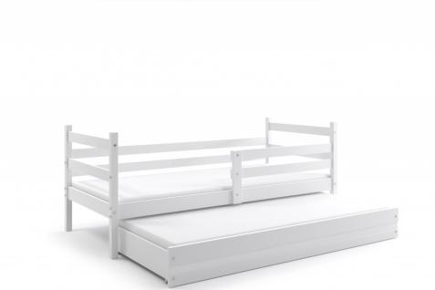 Kinderbett Dario in Weiß mit Gästebett inkl. Lattenrost und Matratze