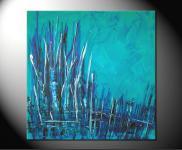 "Fiona Ritz ""TURQUOISE"" Moderne Kunst,"