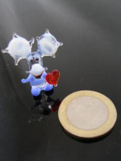 Elch mit Herz 4 mini-Glasfigur-Glastier-Glasfiguren