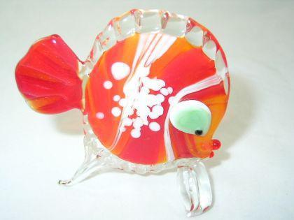 Fisch rot 1-14 - Glastier