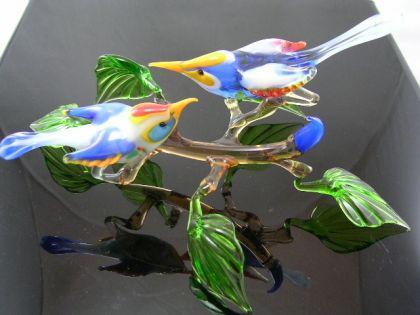 2 Vogel auf Ast 5 - Glastiere
