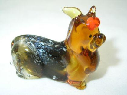 Hund-Dog-Yorkshire Terrier Glasfigur-41-15