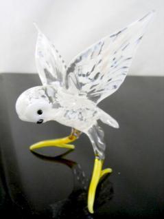 Vogel-Polareule-Eule-Glasfigur