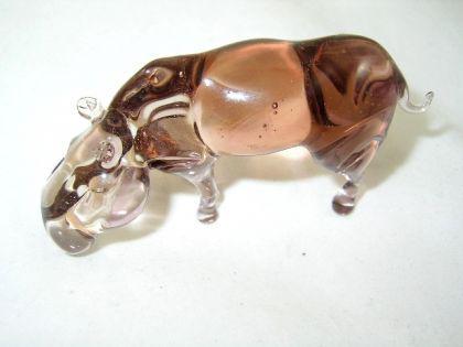 Flusspferd - Nilpferd Glasfigur-17-4