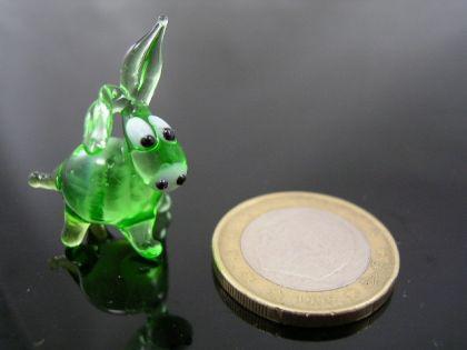 Esel mini Glasfigur-k-1 grün