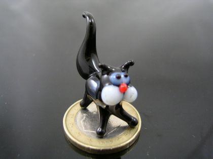 Katze schwarz mini Glasfigur-k-1
