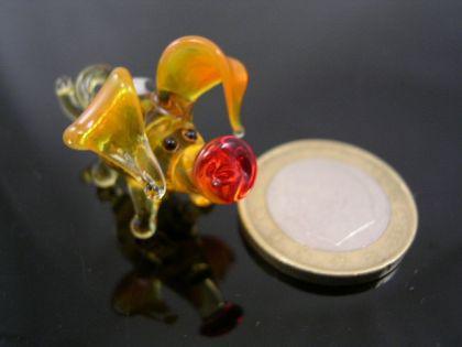 Schwein mini Glasfigur-k-1 bernstein-gelb