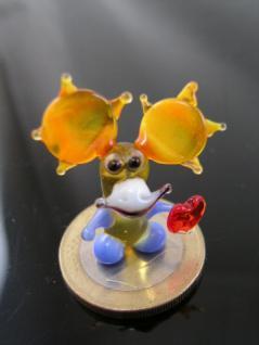 Elch mit Herz 2 mini-Glasfigur-Glastier-Glasfiguren