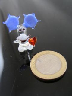 Elch mit Herz 3 mini-Glasfigur-Glastier-Glasfiguren