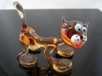 Katze gelb-2-13 - Glastier