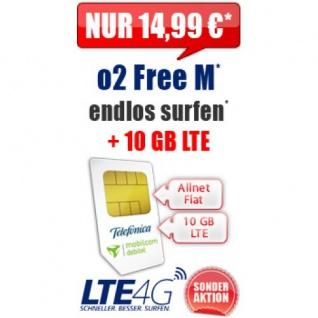 Handytarif O2 FREE M 10GB Internet SMS Flat EU Roaming LTE 4G