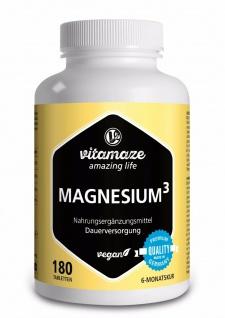 Magnesium ³ Komplex Tabletten für Muskelaufbau & Knochen