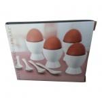 Keramik-Eierbecher-Set mit Eierlöffel 8teilig