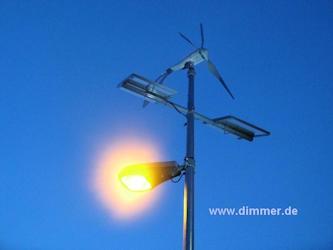 Solar Straßenleuchte LED + Wind 60W