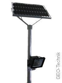 Solar Beleuchtung für Müllcontainer Mülltonnenstellplatz