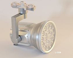 LED Strahler 18W für 3-Phasen Stromschiene