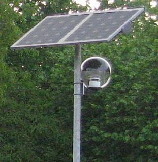 LED Solar Mastleuchte Globe mit Mast 15W
