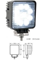 LED Scheinwerfer 12V - 24V IP67 27W eckig