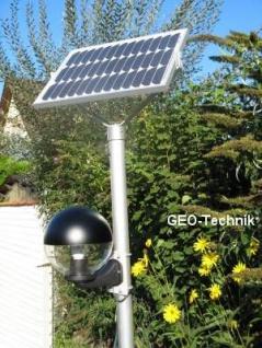 LED Solar Mastleuchte Globe 4m mit Näherungsschalter Dim